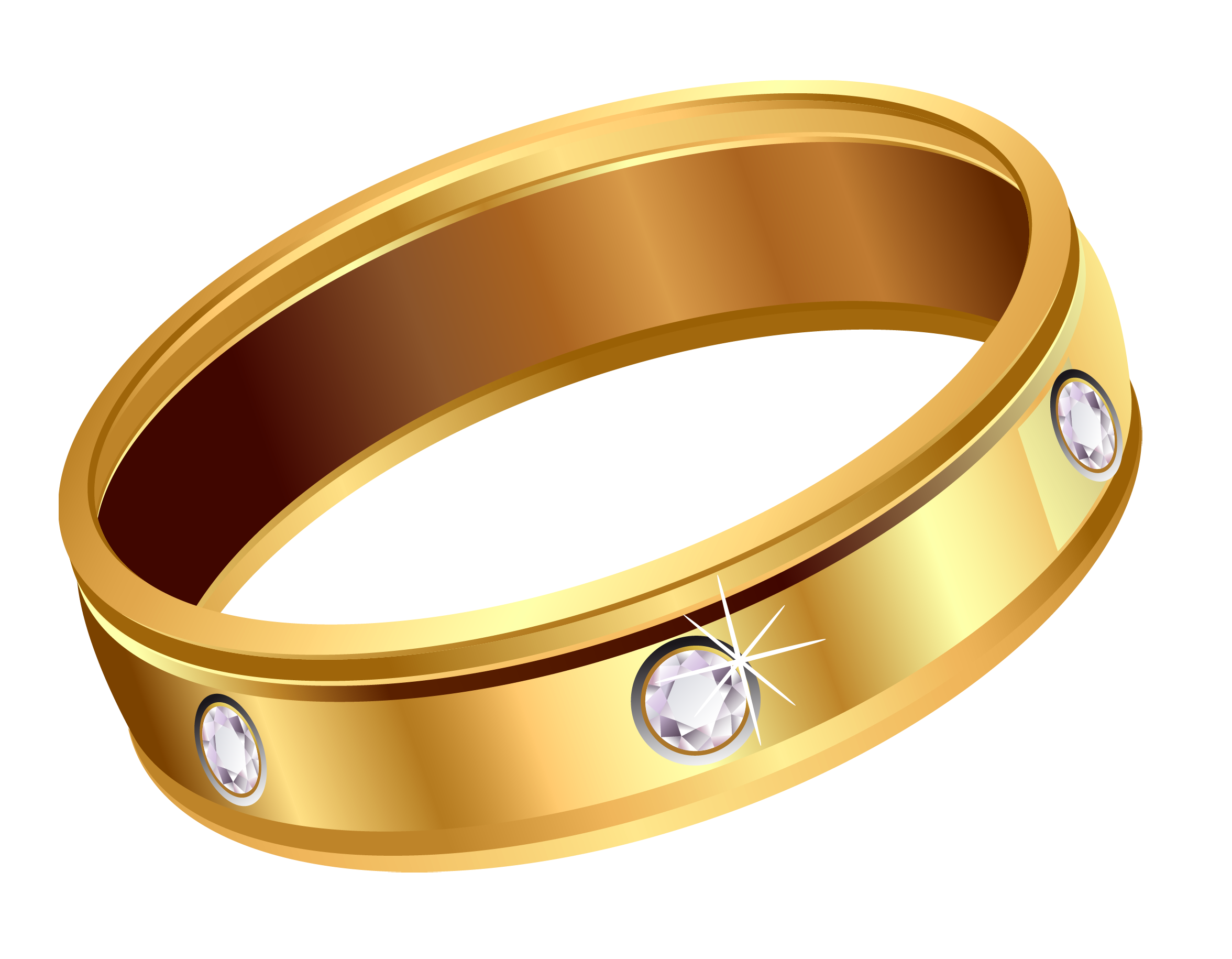 image freeuse Transparent Gold Ring with Diamonds PNG Clipart