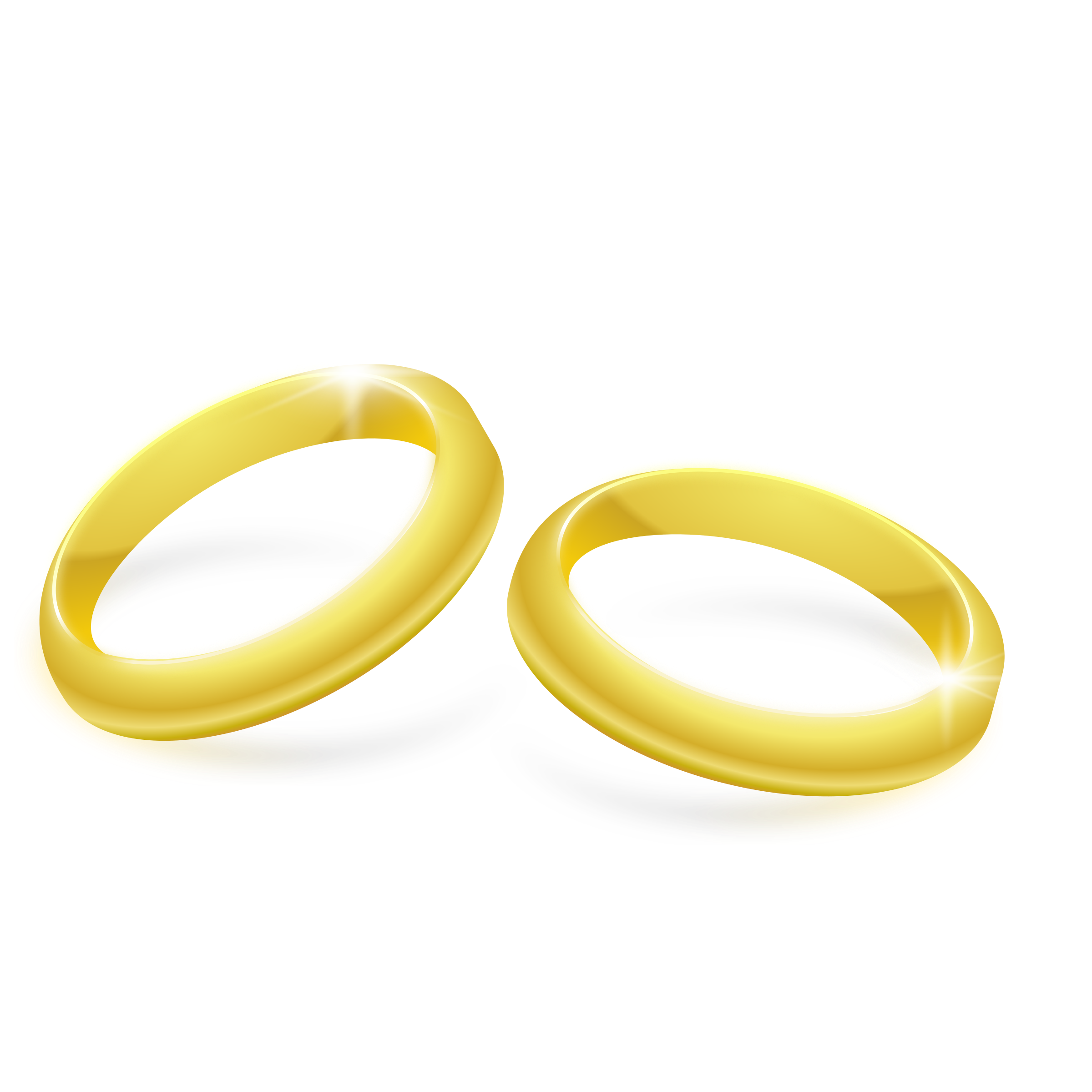 picture black and white library Gold rings clipart. Big image png