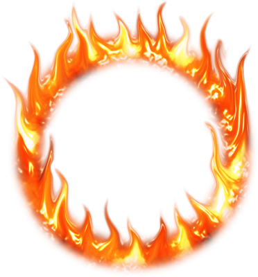 vector free library Ring of fire clipart