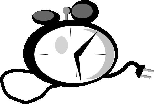 clip art black and white stock Ringing Alarm Clock Clipart