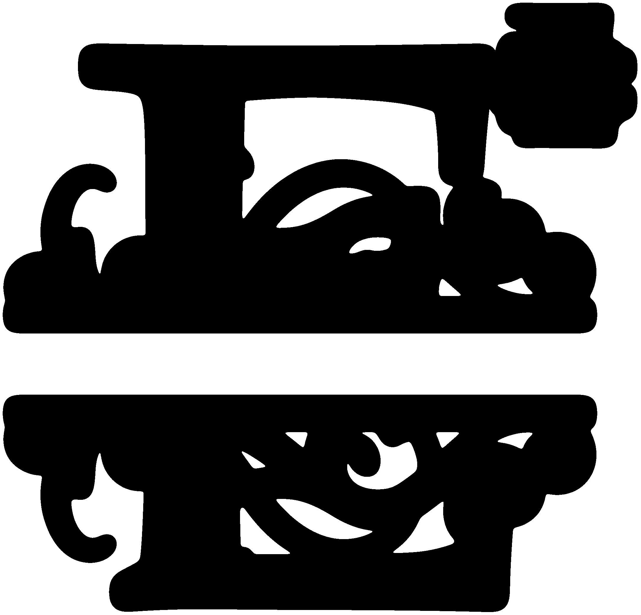 picture transparent stock E Split Monogram SDS E Split Monogram