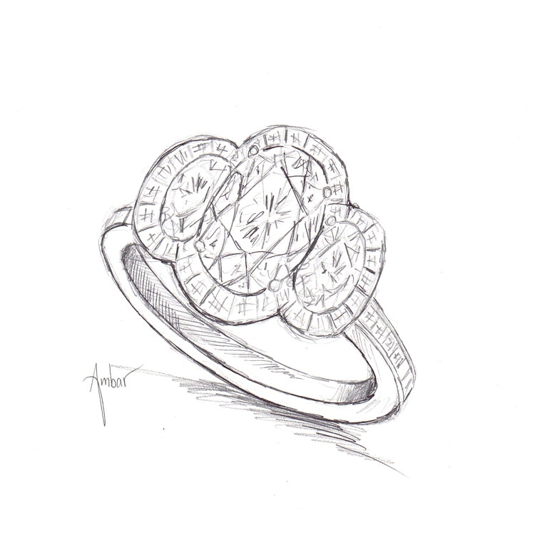 clip royalty free stock Ring sketch colorful realistic. Rings drawing pencil