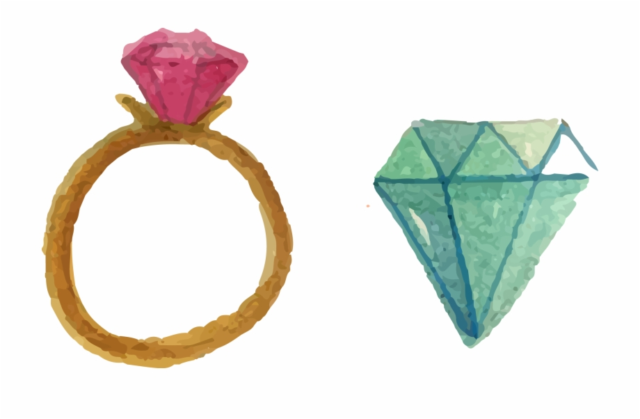 clip art transparent download Collection of free ring. Rings drawing watercolor