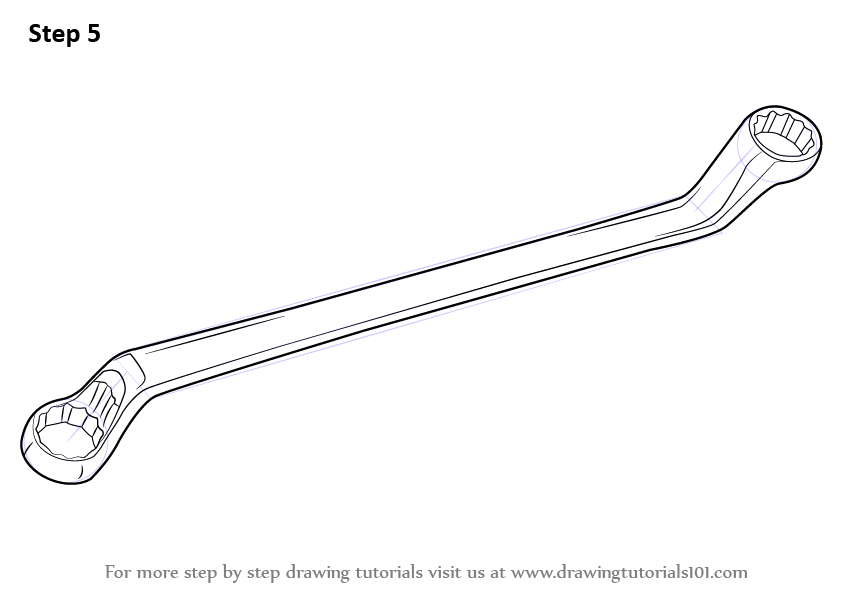 picture royalty free download Rings drawing wrench. Learn how to draw