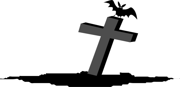 banner transparent library Cross Graveyard Rip Clip Art at Clker