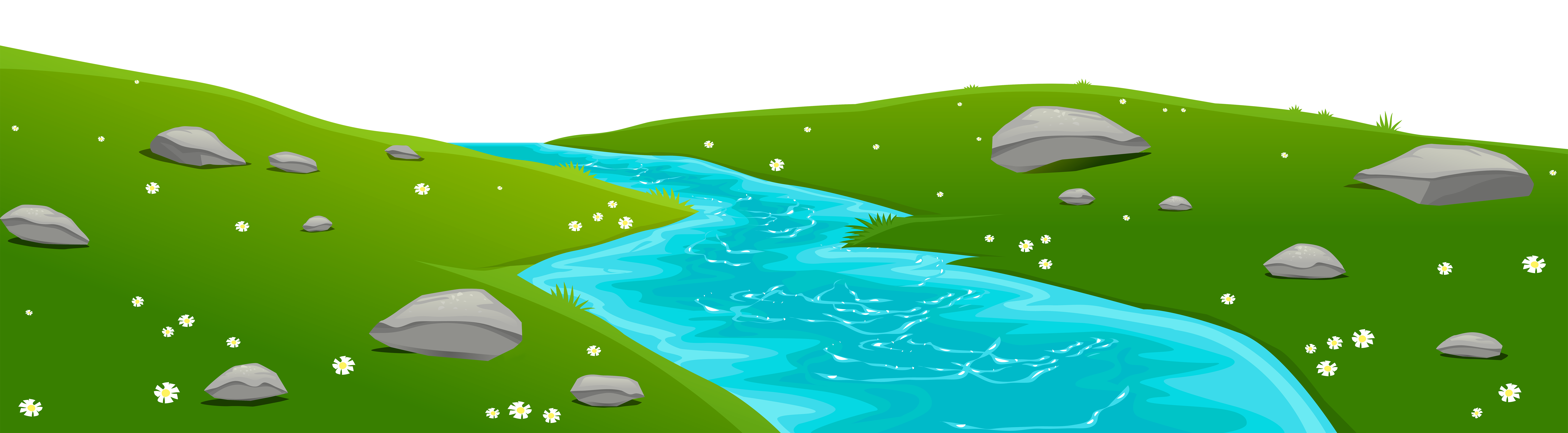 jpg library library Drawing nature creek. River clipart clipground view