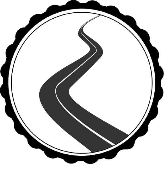 graphic download Road clipart black and white. Clip art at clker