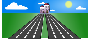 png free stock Roads clipart. To home clip art.