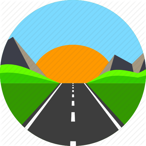 jpg black and white download Roadway Clipart road path