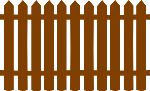 graphic black and white download Wood Gate Clipart