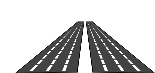 clipart freeuse library Road clipart black and white. Empty roads clip art