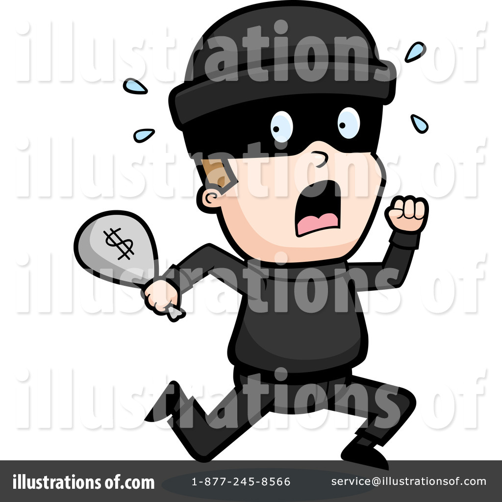 jpg black and white Robber clipart. Illustration by cory thoman.