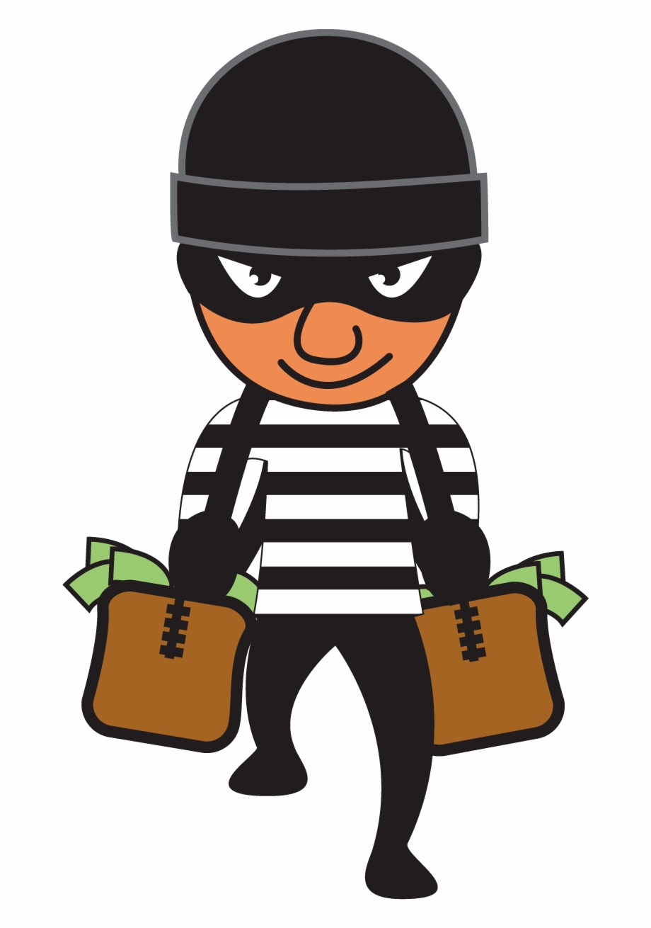 clip art black and white library Robber clipart. Free black and white.