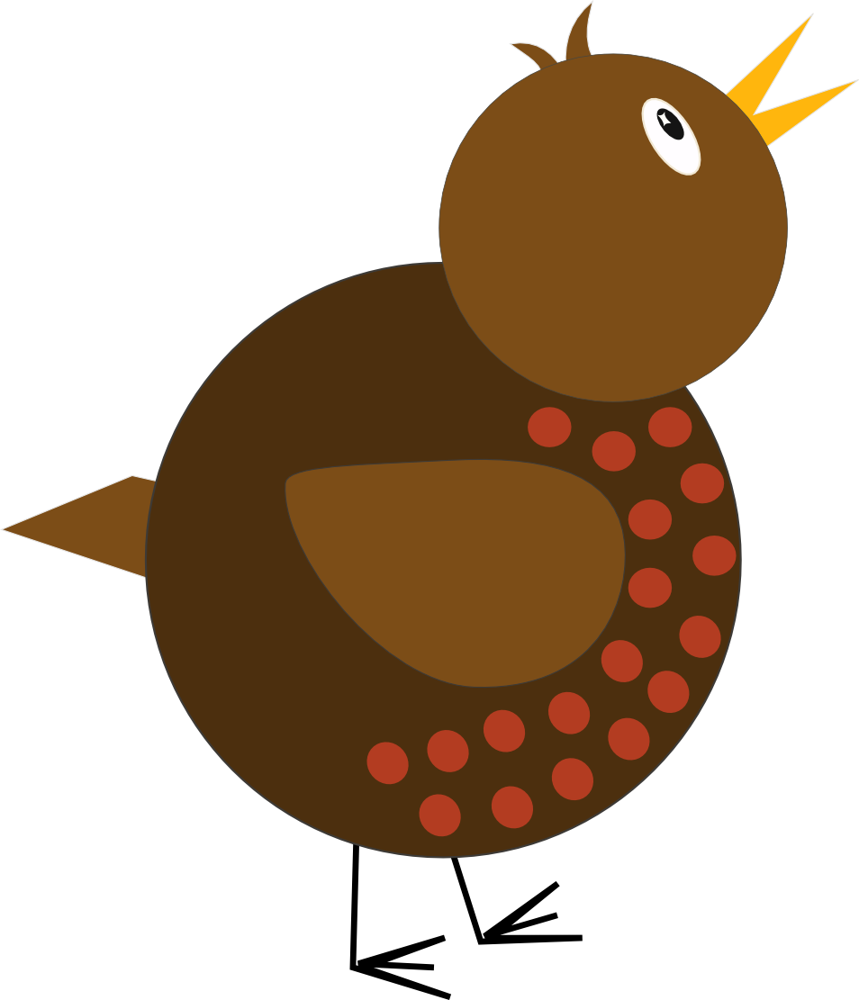 vector free Christmas robin clipart