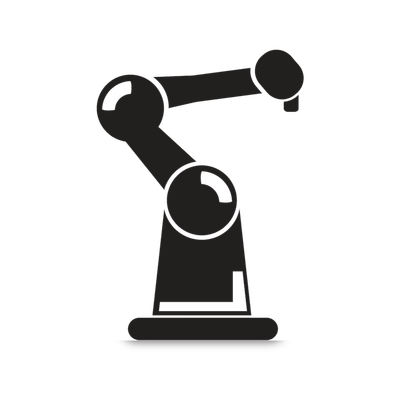 image black and white library Bot Round Arm Icon transparent PNG