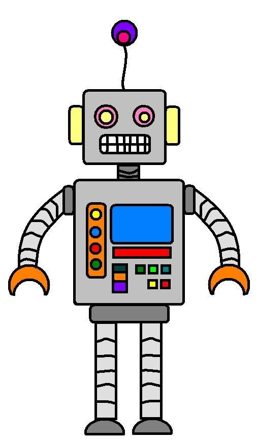 clip library Robot clipart. Great printable decoration hoildays.