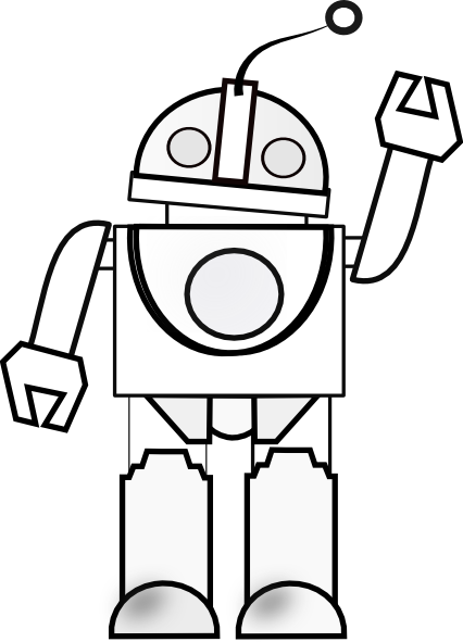 graphic black and white stock Robot Line Drawing at GetDrawings