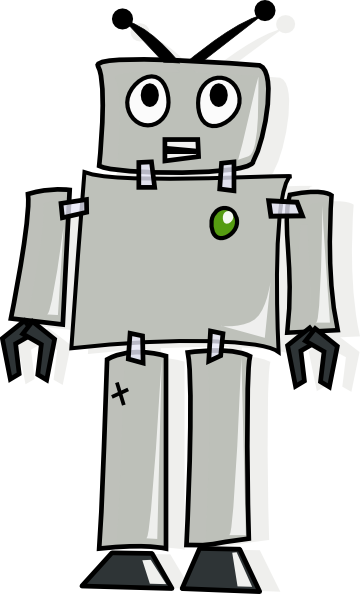 graphic freeuse library Cartoon Robot Clip Art at Clker