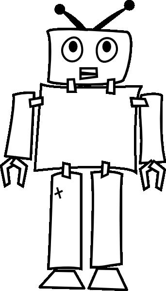 banner library download Robot Outline Clip Art at Clker