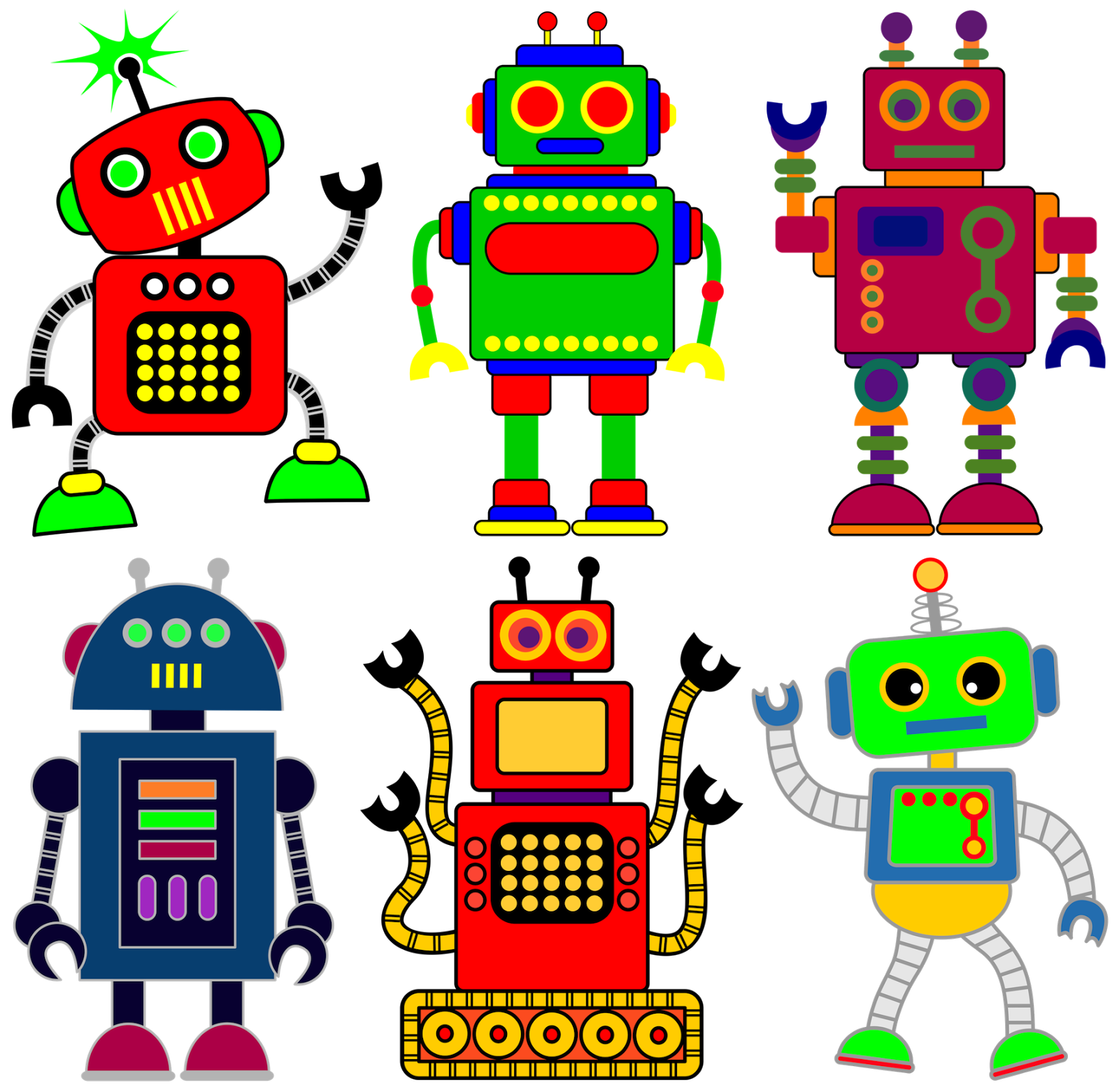 clip art black and white library Robot clipart for your project or classroom