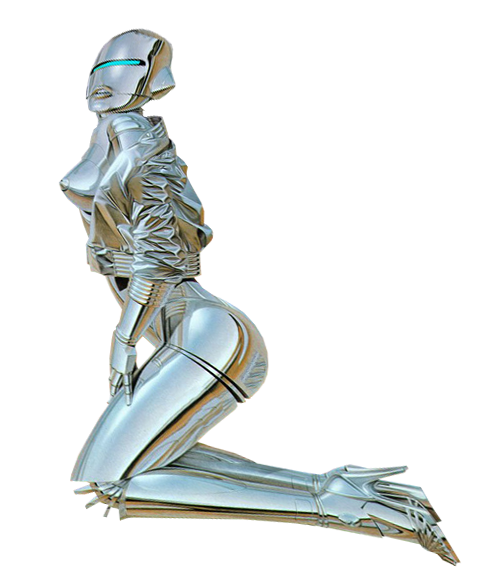 graphic royalty free download Female Robot transparent background