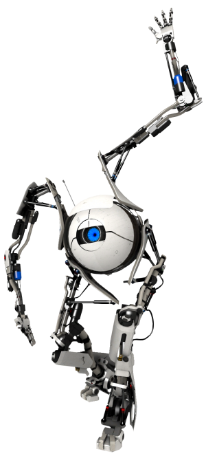 clip art freeuse download transparent robot portal 2 #117271352