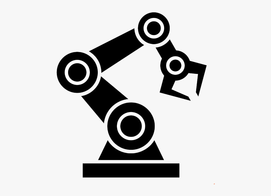 jpg black and white download Clip art robot icon. Robotic arm clipart.