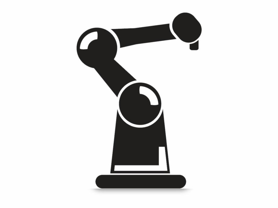 clip stock Bot round icon robot. Robotic arm clipart.