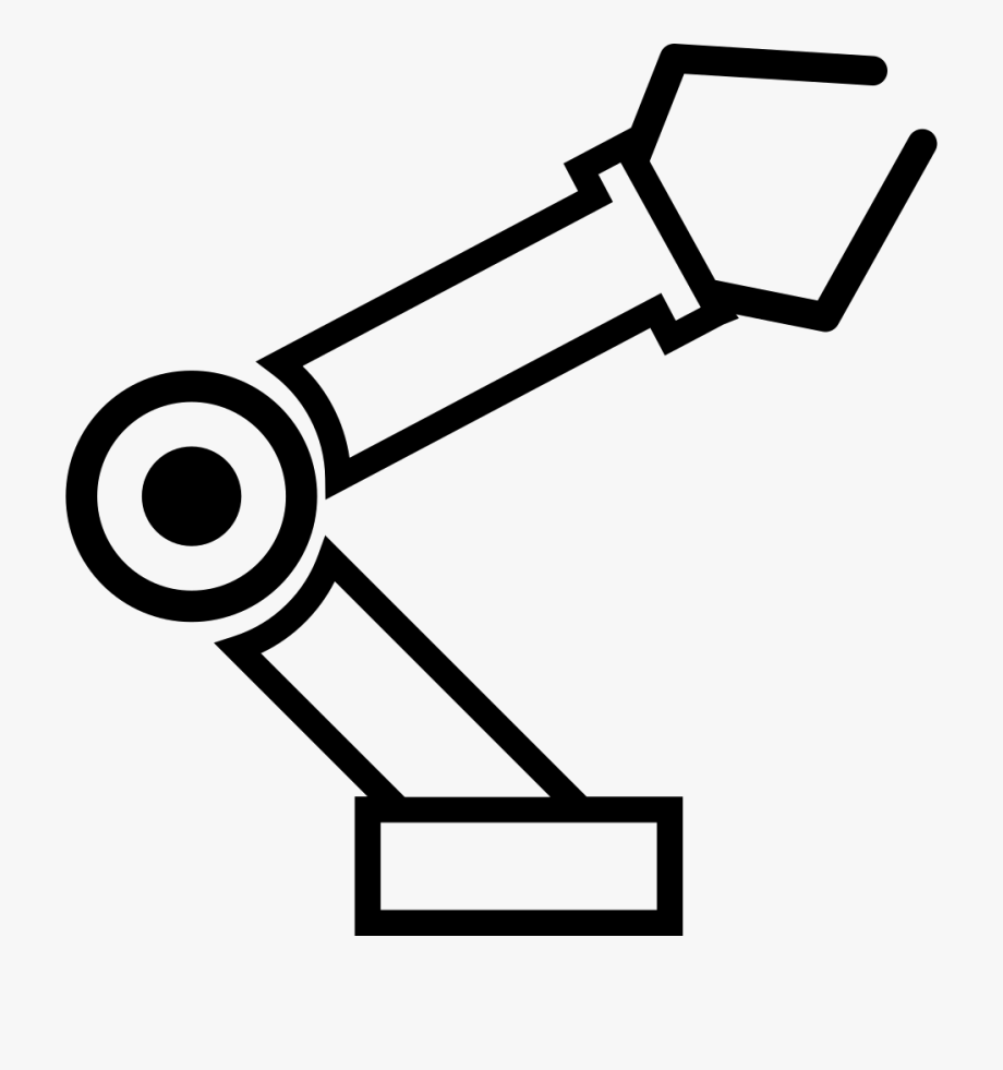 jpg library stock Robotic arm clipart. Svg png icon free.