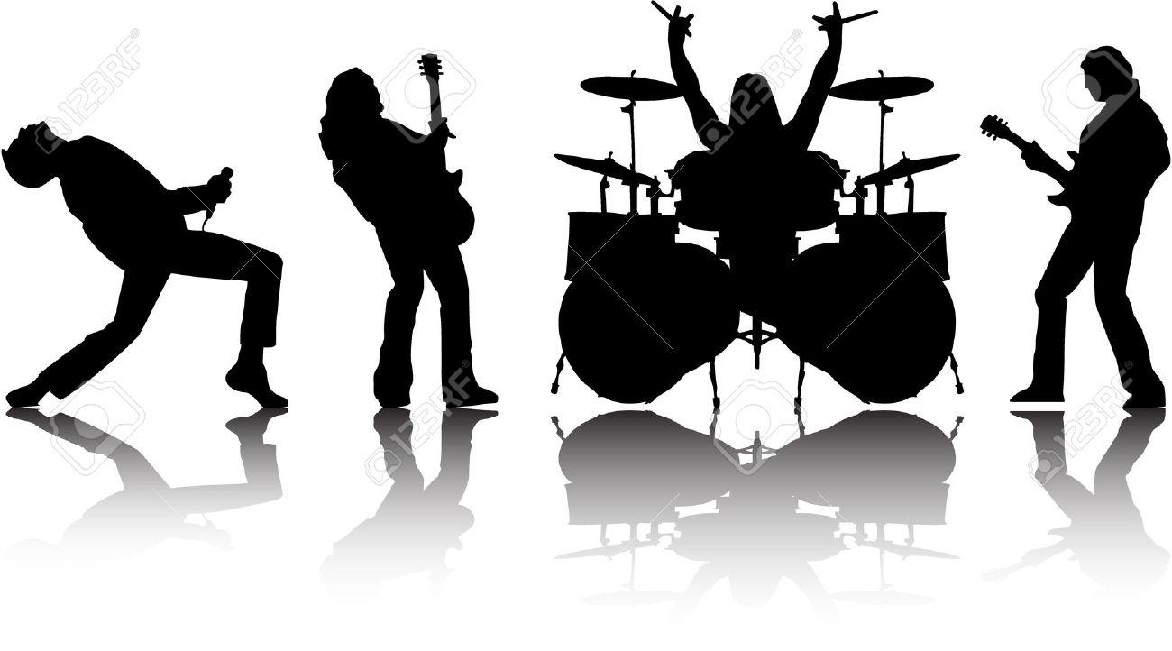 image royalty free stock Rock clipart look at. Vector band clip art