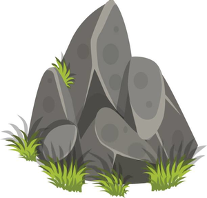 picture free library Rock clipart. Black and white free.