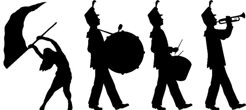 black and white download Concert Band Silhouette at GetDrawings