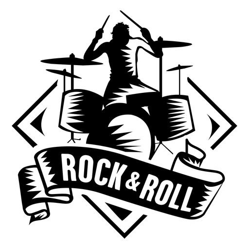 clip art And badge transparent png. Rock n roll clipart.