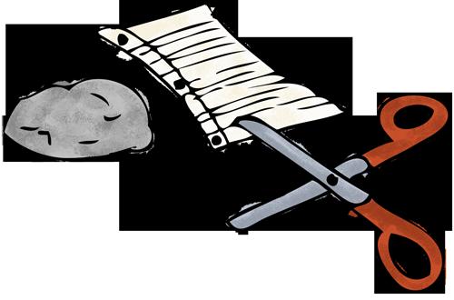 clip art transparent rock paper scissors clipart #66442607