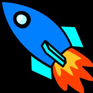 png stock Blue Rocket Clip Art