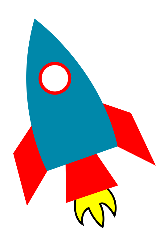 banner freeuse stock Rocketship clipart. Church pinterest clip art.
