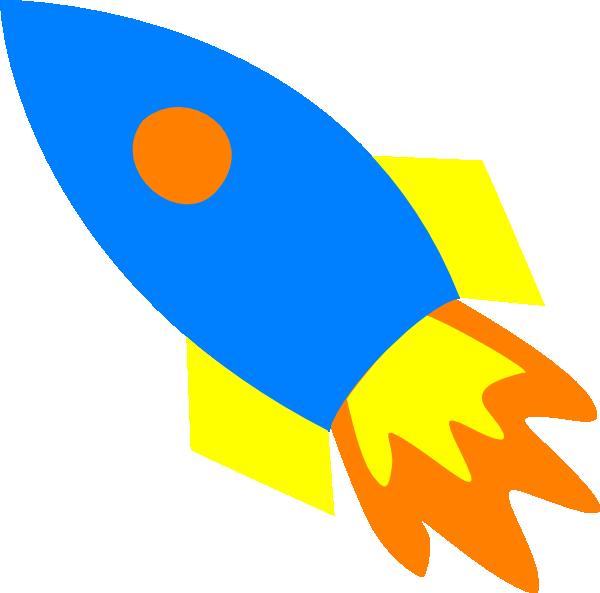 jpg transparent library Blue rocket ship clip. Rocketship clipart.