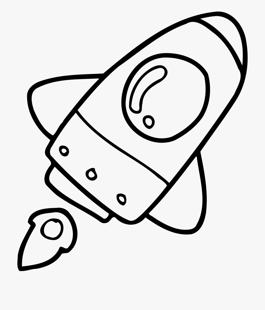 clip library download Rocketship clipart black and white. Simple drawing rockets rocket