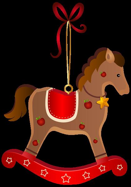 clip download Rocking Horse Christmas Ornament Transparent PNG Clip Art Image