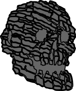 clip library download Rocking clipart gray rock. Skull clip art at
