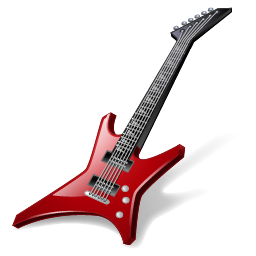 banner royalty free stock Rock Guitar Icon