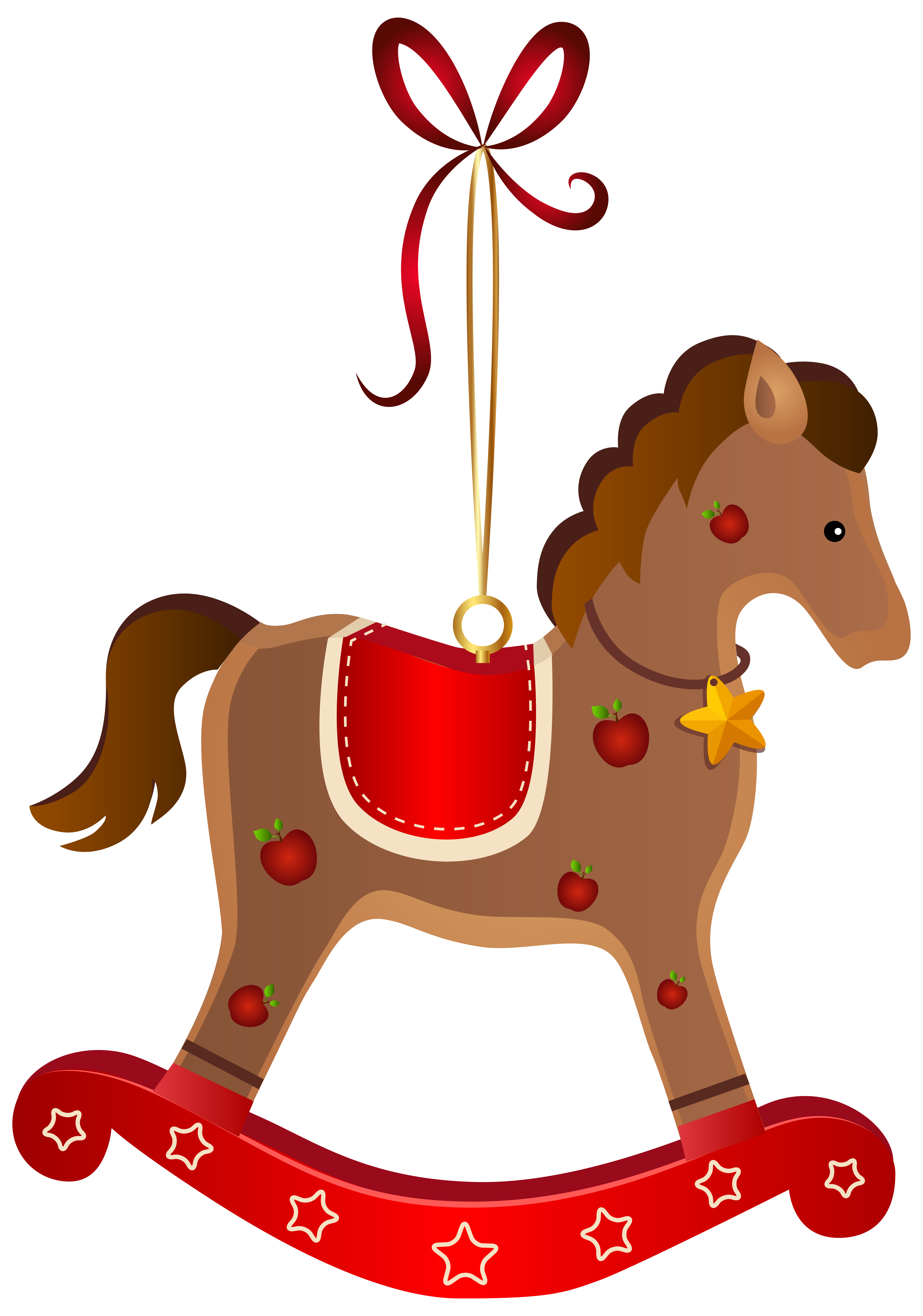 clip library stock Rocking Horse Christmas Ornament Transparent PNG Clip Art Image