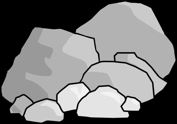 vector transparent Stones and rocks clip art