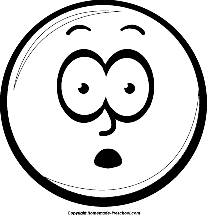 vector free library Confused clipart black and white. Smiley face google search