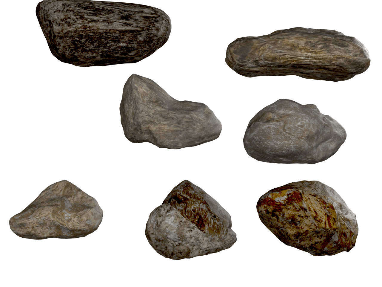 svg stock Rocks Collection transparent PNG