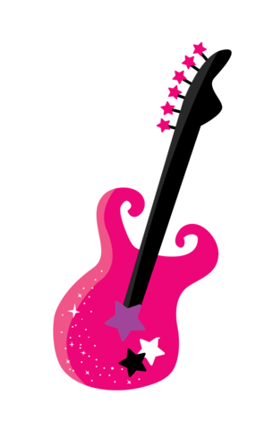 freeuse library Zwd rock star minus. 80 clipart pink guitar
