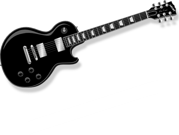 jpg library stock Clip art at clker. Guitar clipart black and white
