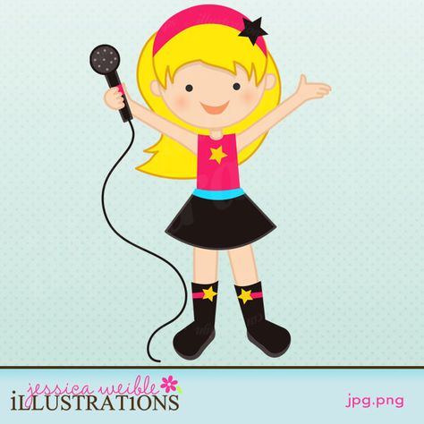 stock Girl idol ely s. Rockstar clipart vintage star
