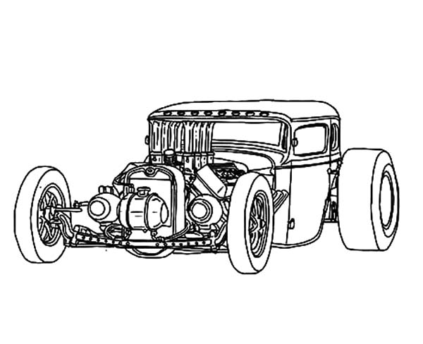 freeuse stock Hot Rod Car Drawing at GetDrawings