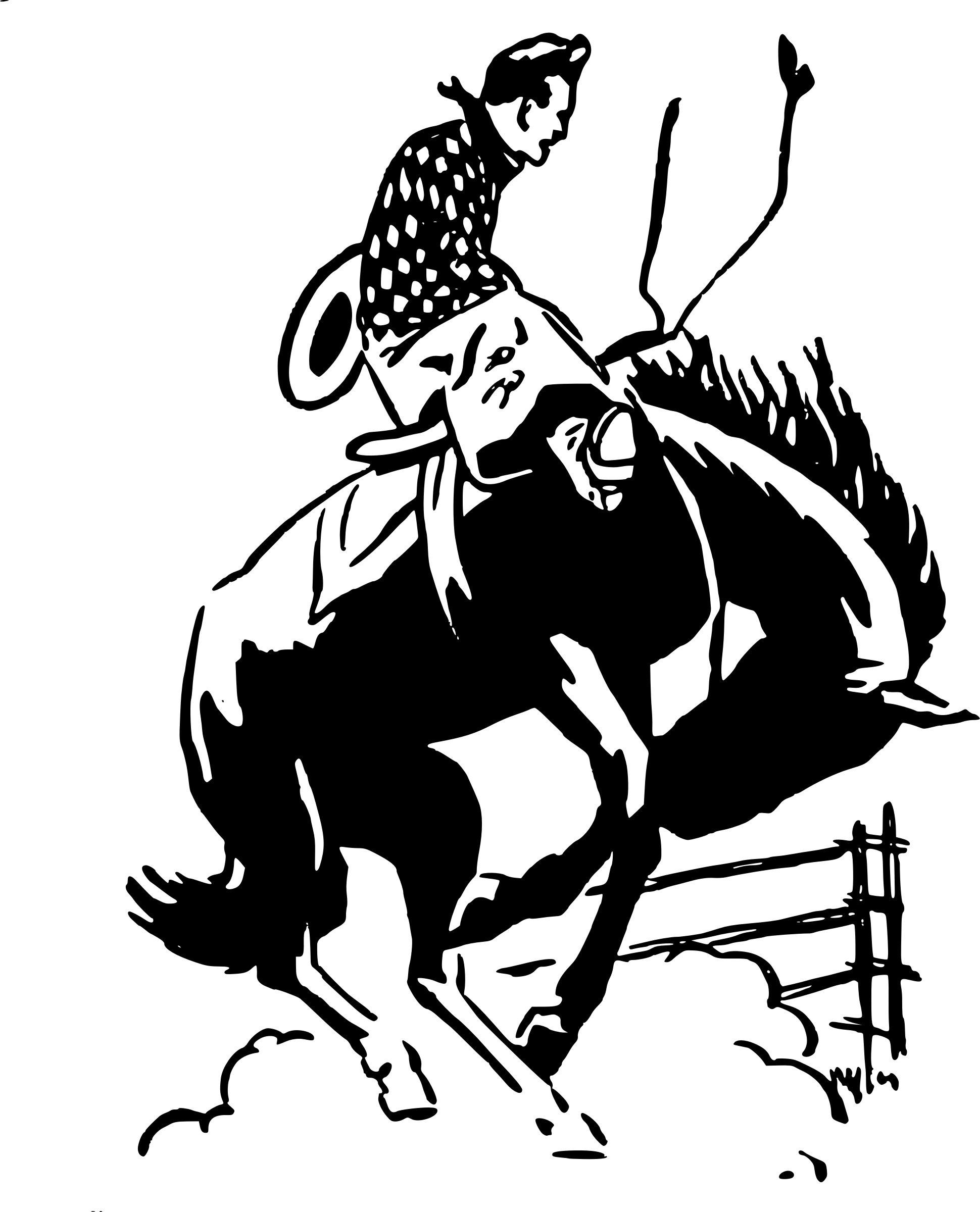 vector freeuse library Western horse riding clipart. Cowboy rodeo transparent png